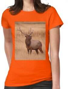 Funny Elk Raspberry Womens Fitted T-Shirt