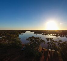Aerial Shot of Cardenyabba Lagoon - Kilcowera Station by Malcolm Katon