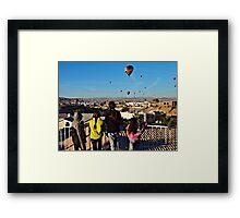 Kids & Balloons Framed Print