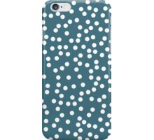 Cute Desaturated Green and White Polka Dot iPhone Case/Skin