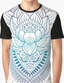 Lotus and mandala colored outline Graphic T-Shirt