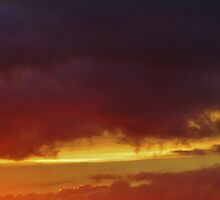 Sunset Sky Over South Brent by lezvee