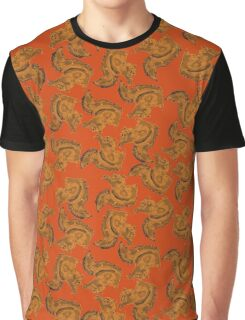 Red Squirrels on a brown background. Graphic T-Shirt