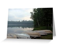 Rowboats in Fog Greeting Card