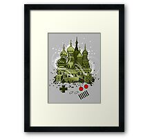 Tetris Gameboy Tribute to Alexey Framed Print