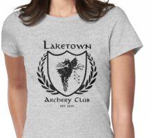Laketown Archery Club (Black) Womens Fitted T-Shirt