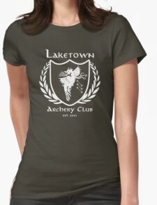 Laketown Archery Club (White) Womens Fitted T-Shirt