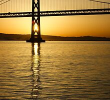 Framing the Sunrise at San Francisco's Bay Bridge in California by Georgia Mizuleva