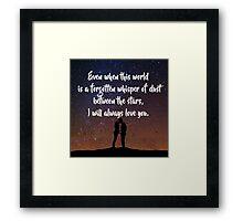 EoS: Dust Between the Stars Framed Print