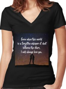 EoS: Dust Between the Stars Women's Fitted V-Neck T-Shirt