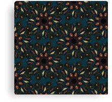 floral mandala pattern Canvas Print
