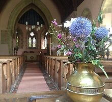 Flowers In Church by Francis Drake