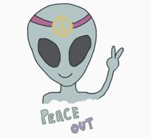Alien Peace Hippie Kids Tee