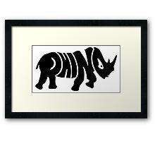 Rhino VRS2 Framed Print