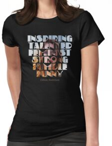 Feature of G.Anderson black design  Womens Fitted T-Shirt