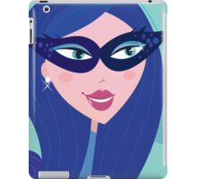 Woman with Venetian carnival mask. Fashion illustration of femme-fatale iPad Case/Skin
