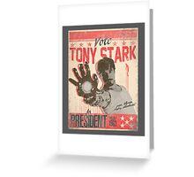 President Stark Greeting Card