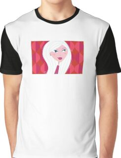 Woman with beautiful skin. Young woman with make-up on red stylized background in retro style. Graphic T-Shirt