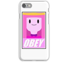 Obey the princess iPhone Case/Skin