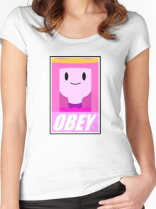 Obey the princess Women's Fitted Scoop T-Shirt