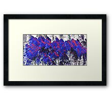 The Blue Forest Framed Print