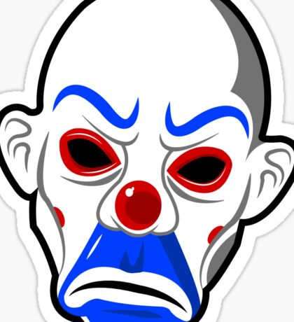 Mr.J Clown Mask Sticker