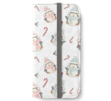 Christmas penguins holidays winter iPhone Wallet/Case/Skin
