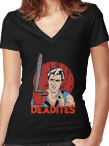 Ancient Deadites Women's Fitted V-Neck T-Shirt