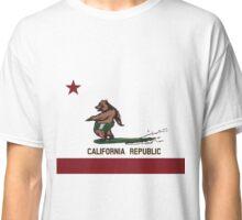 Surfing Bear California Flag Surf Style Classic T-Shirt