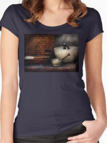 Apothecary - Pestle & Drawers Women's Fitted Scoop T-Shirt