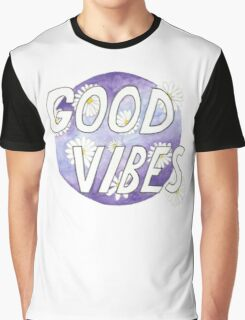 Good Vibes Daisies Graphic T-Shirt