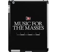 Depeche Mode : Music For The Masses Logo 3 White iPad Case/Skin