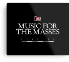 Depeche Mode : Music For The Masses Logo 3 White Metal Print