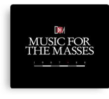 Depeche Mode : Music For The Masses Logo 3 White Canvas Print