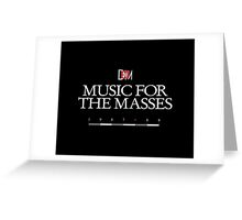 Depeche Mode : Music For The Masses Logo 3 White Greeting Card