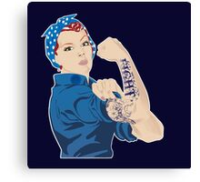 Rosie the Riveter - FIGHT Canvas Print