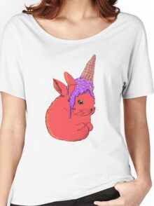 ice-cream bunny rabbit Women's Relaxed Fit T-Shirt
