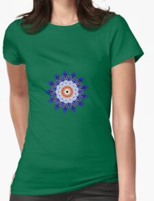 Flower Planet Womens Fitted T-Shirt