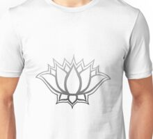 Floating Lotus - Silver Fade Unisex T-Shirt