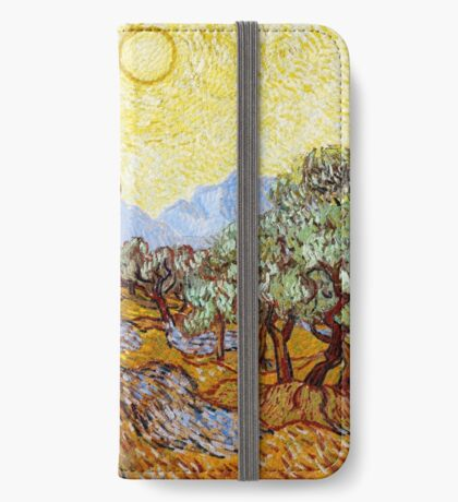 Van Gogh - Olive Trees with Yellow Sky and Sun iPhone Wallet/Case/Skin