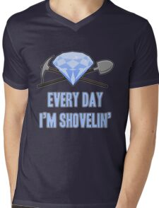Diamond - Every Day Shovelin' Mens V-Neck T-Shirt