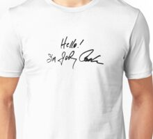 Johnny Cash Signature Black Unisex T-Shirt