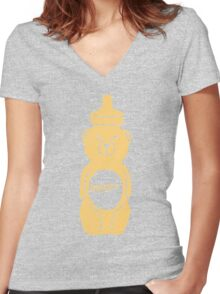 Enter Nugget Pt. 2!! Women's Fitted V-Neck T-Shirt