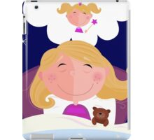 Small girl is sleeping and dreaming about princess iPad Case/Skin