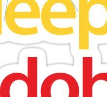 Eat Sleep Adobe Suite 2.0 Sticker