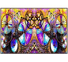 BICYCLES ABSTRACT ART; Whimsical Painting Print Photographic Print