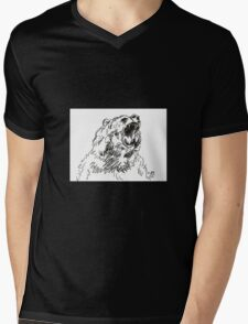 Bear Mens V-Neck T-Shirt