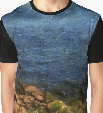 Stars Falling into the Sea Graphic T-Shirt
