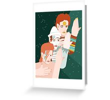 David Bowie Personas Greeting Card