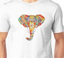 tribal elephant rainbow Unisex T-Shirt
